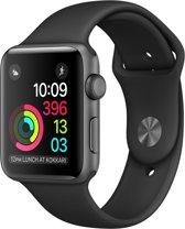 Apple Watch Series 2 Smartwatch 38mm - Spacegrijs Aluminium / Zwart sportband
