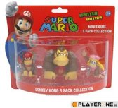 Nintendo Donkey Kong, Diddy Kong, Dixie Kong mini figuren (limited Edition)