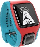 TomTom Runner Cardio - GPS Sporthorloge - turquoise/rood