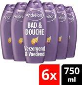 Andrélon 2 in 1  - 750 ml - douche & bad - 6 st - voordeelverpakking