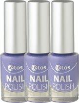 Etos Nailpolish 083 - Purple Sugar - Sugar - Paars - 3 stuks - Nagellak