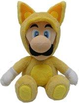 Super Mario Luigi als vos mini pluche knuffel 22 cm