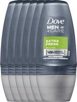 Dove extra fresh Men + Care - 50 ml - deodorant roller - 6 st - Voordeelverpakking