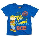 Bob de Bouwer Jongens T-shirt - blauw - Maat 104