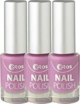 Etos Nailpolish 013 - Ultra Violet - Roze - 3 stuks - Nagellak