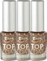 Etos Topcoat 071 - Caramel Dip - Goud - 3 stuks - Topcoat