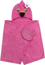 Zoocchini kids badcape 100% katoen - Franny the Flamingo