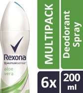 Rexona fresh aloe vera Woman - 200 ml - deodorant spray - 6 st - Voordeelverpakking