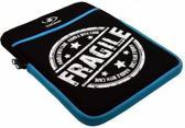 Neoprene Sleeve | Hoes voor Lenco Tab 1022 | Fragile motief, merk i12Cover