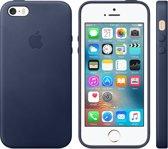 Apple iPhone SE lederen hoesje - donkerblauw