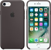 Apple iPhone 7 Silicone Hoes -  Donkerbruin