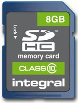 INTSDHC8GB2MEM-SD 8GB 20MB/SINTEGRA