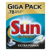 Sun Extra Power All In 1 - 78 st - Vaatwastabletten