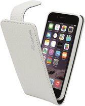 Suncia PREMIUM Leather6 Case / Echt leder Hoesje / Cover voor de Apple iPhone 6 Wit