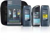 Dove Cadeaupakket - 4-delig - Men+Care Clean Comfort Douche Gel + Deodorant Spray + Fresh Awake Douche Gel + Mini Toilettas