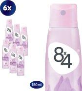 8x4 Soft Kiss  - 150 ml - Deodorant - 6 st - Voordeelverpakking