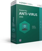 Kaspersky Anti-Virus 2016 - Nederlands / Frans / 3 Apparaten / Doos