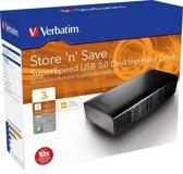 Verbatim Store 'n' Save 3TB - Externe harde schijf / Zwart