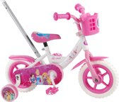 Disney Princess - Kinderfiets - 10 inch - Meisjes - Wit/Roze