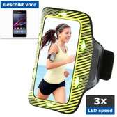 qMust Sony Xperia E1 Sport Armband met led-lampjes (yellow green)