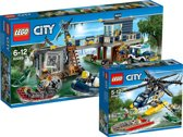 LEGO City Voordeelbundel - Moeraspolitie Hoofdbureau 60069 + Helikopter Achtervolging 60067