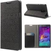 Javu - Samsung Galaxy Note 4 Hoesje - Book Case Schors Zwart