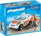 Playmobil Eerste hulp ambulance met broeder - 5543