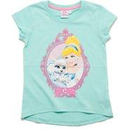 Disney Princess Meisjes T-shirt - blauw - Maat 92