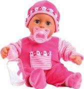 Bayer Pop My First Words Baby met 24 Geluiden - 38 cm - Roze