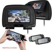 Xtrons HD909 DVD Hoofdsteun met 9 inch scherm