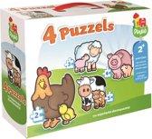 Jumbo Playlab 4in1 Babydieren Puzzel