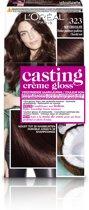 L'Oréal Paris Casting Crème Gloss - 323 Dark Fudge - Haarkleuring
