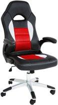 Design bureaustoel racing style zwart rood 401416