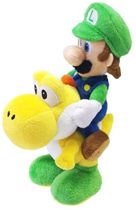 Super Mario Bros Luigi & Yoshi pluche knuffel 22 cm