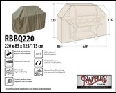 Barbecue beschermhoes RBBQ220 220 x 80 H: 125 / 115 cm taupe