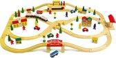 Houten speelgoed trein groot