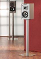 2 Speaker standaards Boxero Mini helder glas - 2 standaards voor het plaatsen van muziekboxen of Tv boxen, hoogte 51 cm.
