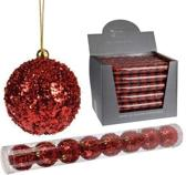 Kerstballen rood 6 cm 8 stuks