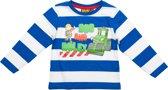 Bob de Bouwer Jongens T-shirt - Wit/Blauw - Maat 104