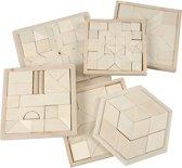 Puzzel, afm 13-17,5 cm, triplex, 6 sets