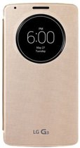 LG Quick Circle Overlay Snap Cover G3S -  goud