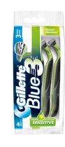 Gillette Blue III Sensitive - 4+1 stuks - Wegwerpscheermesjes