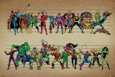 Marvel Comics Line Up - Poster