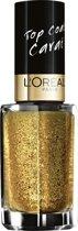 L'Oreal Paris Le Vernis Topcoat - 910 gold lurex - Nagellak