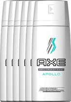 Axe Apollo For Men - 150 ml - Anti-transpirant Spray - 6 stuks - Voordeelverpakking