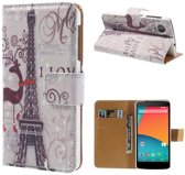 Eiffel Tower Wallet Bookstyle Case LG Nexus 5