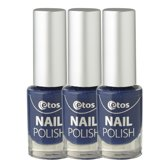 Etos Nailpolish 026 - Shadow Blue - Blauw - 3 stuks - Nagellak