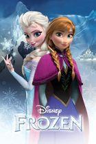 Disney Frozen Anna en Elsa - Poster - 61x91,5 cm - Blauw