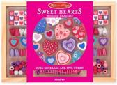 Houten kralenset Sweet hearts