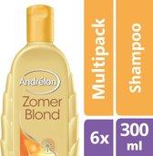Andrélon zomerblond  - 300 ml - shampoo - 6 st - voordeelverpakking
